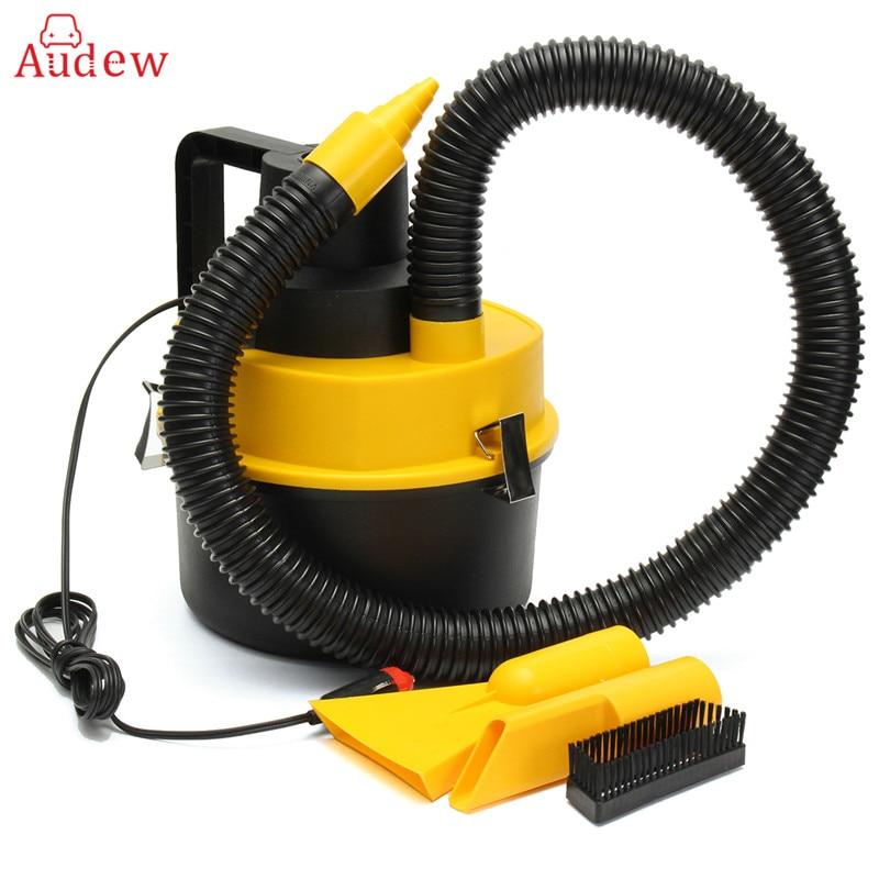 12V 75W Portable Wet/Dry Mini Vac Vacuum High Power Cleaner Kit Inflator Turbo HandHeld  ...