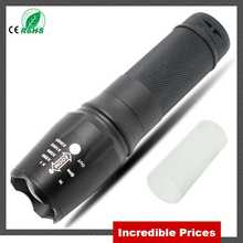 1600 Lumens 5 Mode 18650 26650 AAA Battery Flash font b Light b font T6 Rechargeable