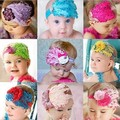 Newborn Feathers Headband Baby Girl Hair Band Flower Hair Bow Toddler Kids Hair Accessories Photography Photo Prop HB33
