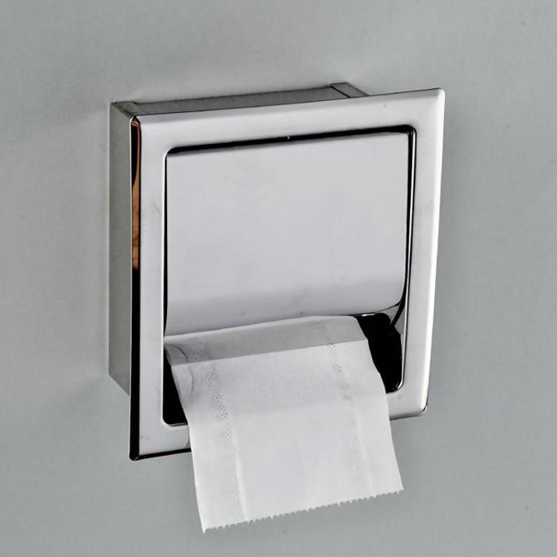 Porta Carta Igienica A Scomparsa.Spedizione Gratuita In Acciaio Inox Porta Carta Igienica Cromo Lucido Parete A Scomparsa Bagno Rotolo Scatola Di Carta Impermeabile