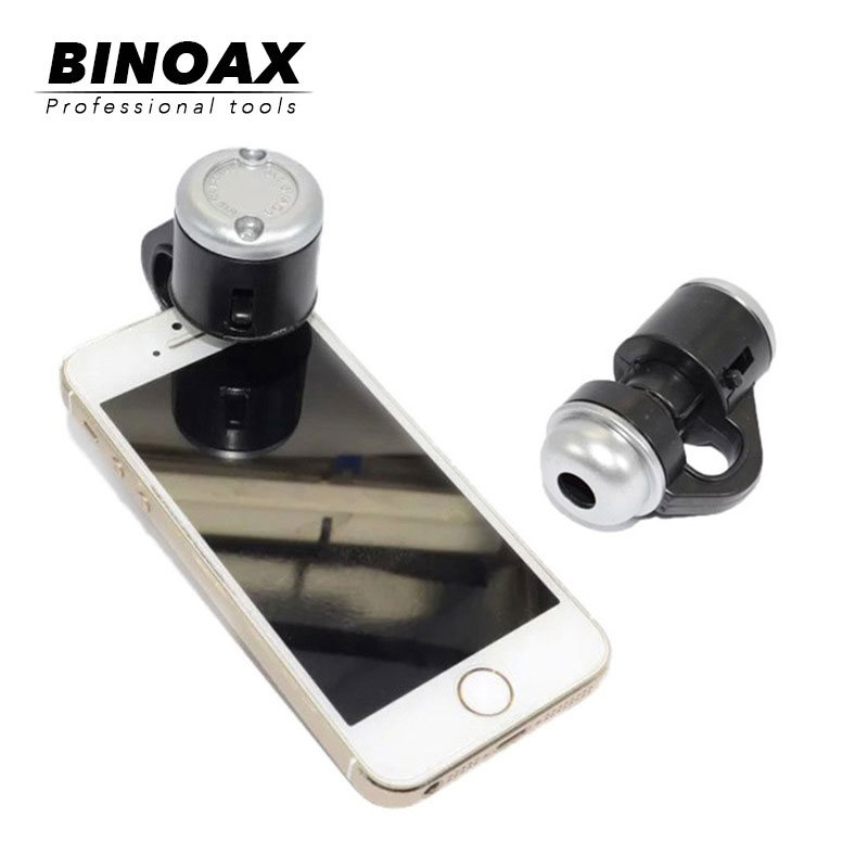BINOAX Cellular Microscope Science Investigate 30X Magnification With LED Lights For Phone Samsung Xiaomi Phone6 6s SE