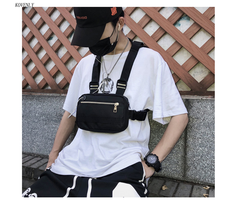 HTB1HghRa1H2gK0jSZJnq6yT1FXaa - New Chest Bag For Men Tactical Vest Bag Casual Function Chest Rig Bags Streetwear For Boy Waist Pack Male Kanye 072002