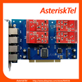 Asterisk Card TDM410P with 4 FXO / FXS ports - PCI FXS FXO card  Analog Card TDM400 TDM410 digium FXO wildcard tdm400p