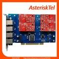 Cartão TDM410P Asterisk com 4 portas FXO/fxs-PCI cartão FXO FXS Analógico Cartão TDM400 curinga tdm400p FXO digium TDM410