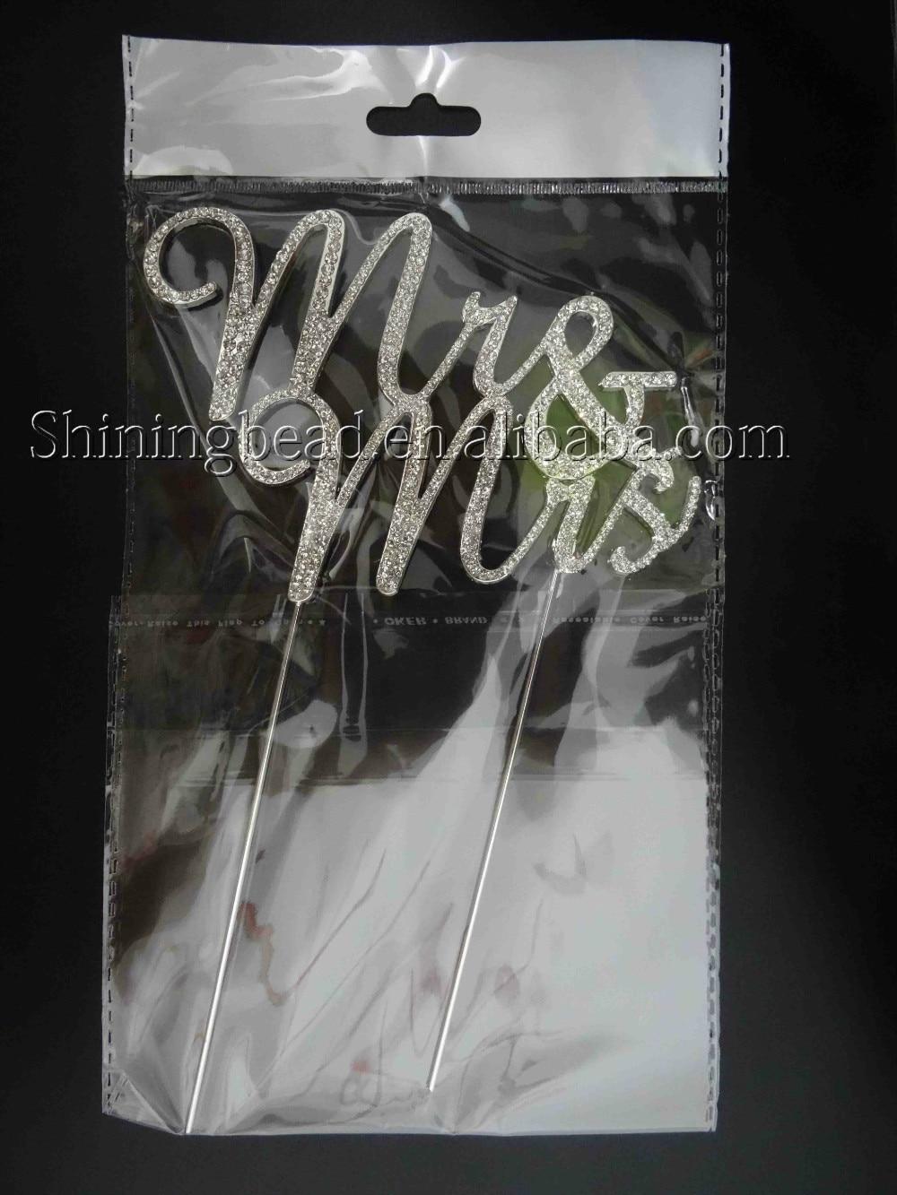 Mr & Mrs crystal rhinestone cake topper voor huwelijksverjaardag, - Feestversiering en feestartikelen - Foto 5