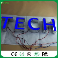 Mounted On The Wall Outdoor Custom Steel Channel Sign 3D Led Advertising Light Box Letter For
