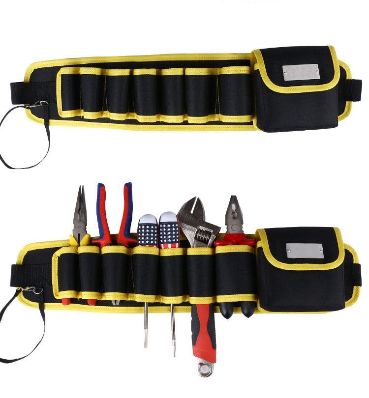 Multifunction Durabl Electric Drill Bag 600D Oxford Cloth Tool Bag High Quality Tool Belt Waist Tool Holder Kit Pocket Pouch Bag