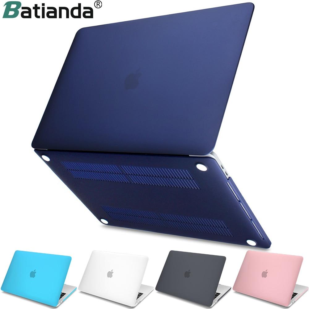 Neue Harte Kristall Matte Frosted Fall Abdeckung Sleeve für MacBook Air 11 A1465/air 13 zoll A1466 pro 13,3 15 A1278 retina 13 A1502