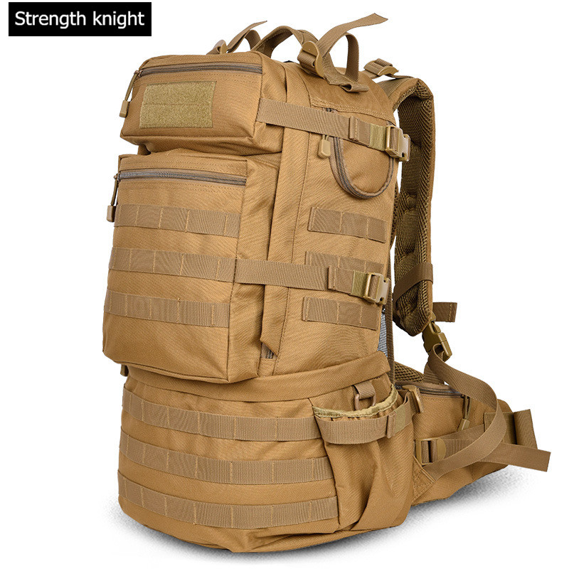 Military Army Tactics Backpack 50L Campe Backpacks Large-capacity Men Travel Bags Camouflage Pack Schoolbag 2016 military tactics backpack men travel bags camouflage waterproof crossbody shoulder bag pack army bag bolso mochila l60