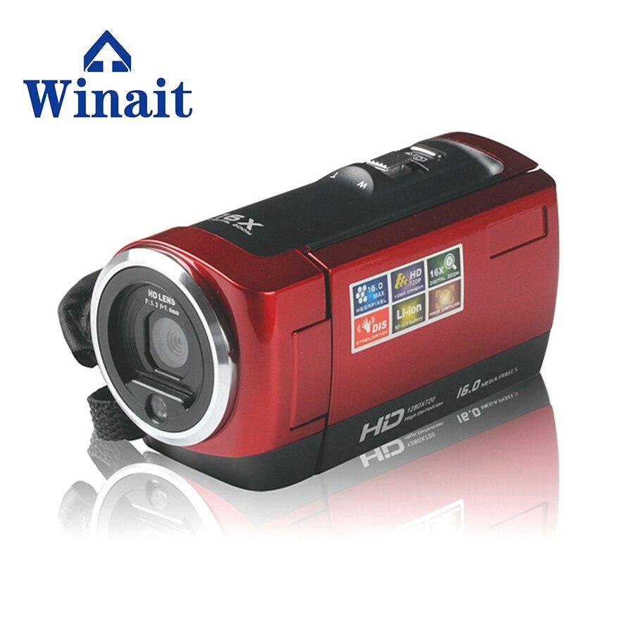 Winait moins cher caméra vidéo numérique avec 6 millions de pixels plus HDD/Flash type de support de mémoire caméscope