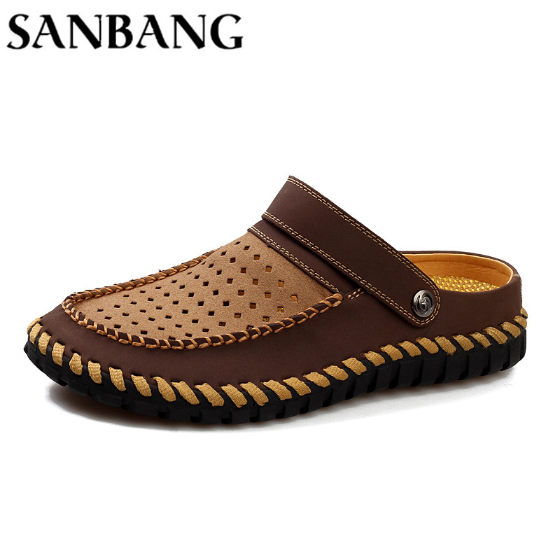Casual Sandals Shoes Men Fashion Breathable Mesh Shoes Non-slip Summer Men Sandals Cheap Men Slippers Sandals Walking Shoes wx5
