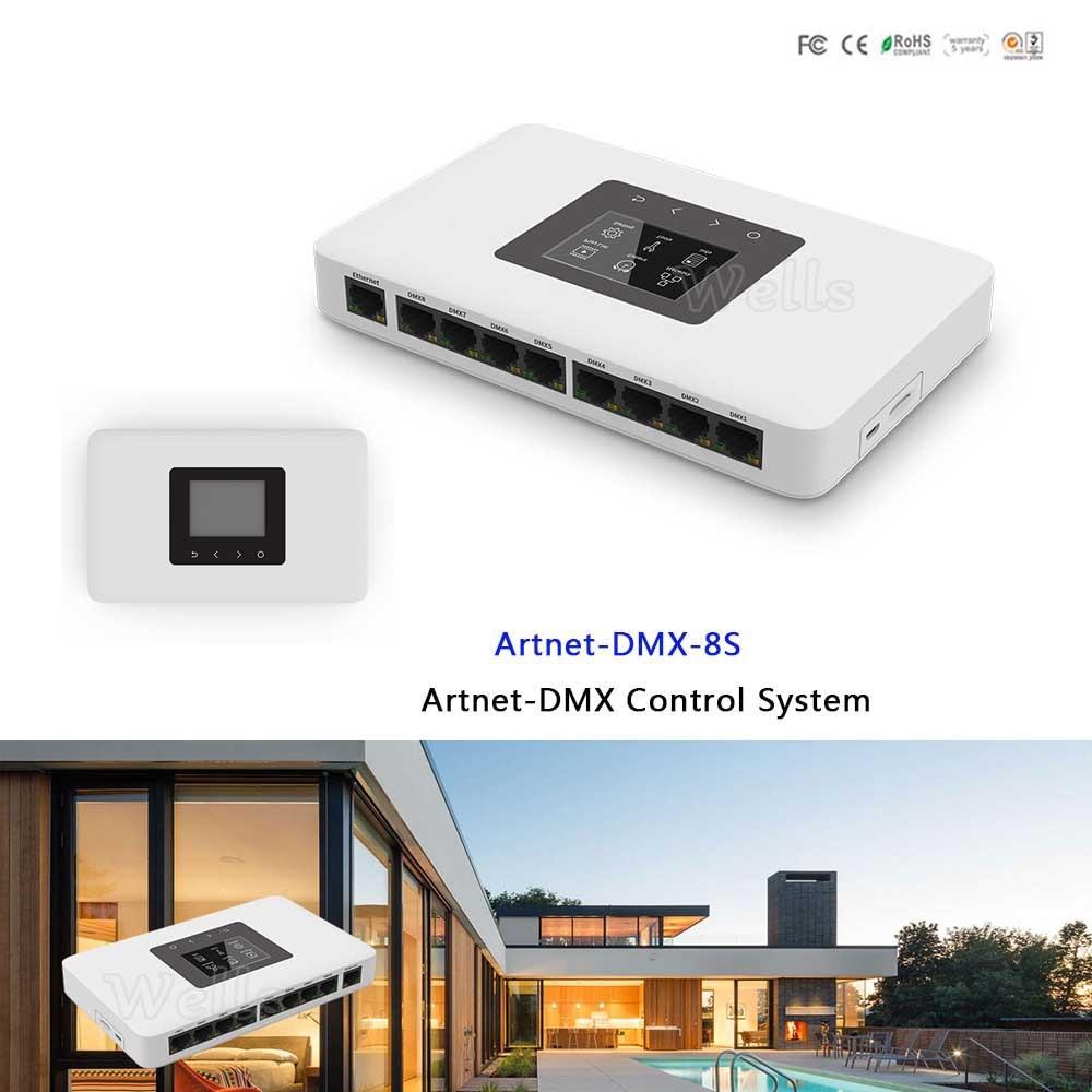 ArtNet DMX 8S светодио дный Управление ler; Artnet чтобы DMX512 преобразователь сигнала; 512 входной канал выход 8 портов Artnet DMX Управление Системы