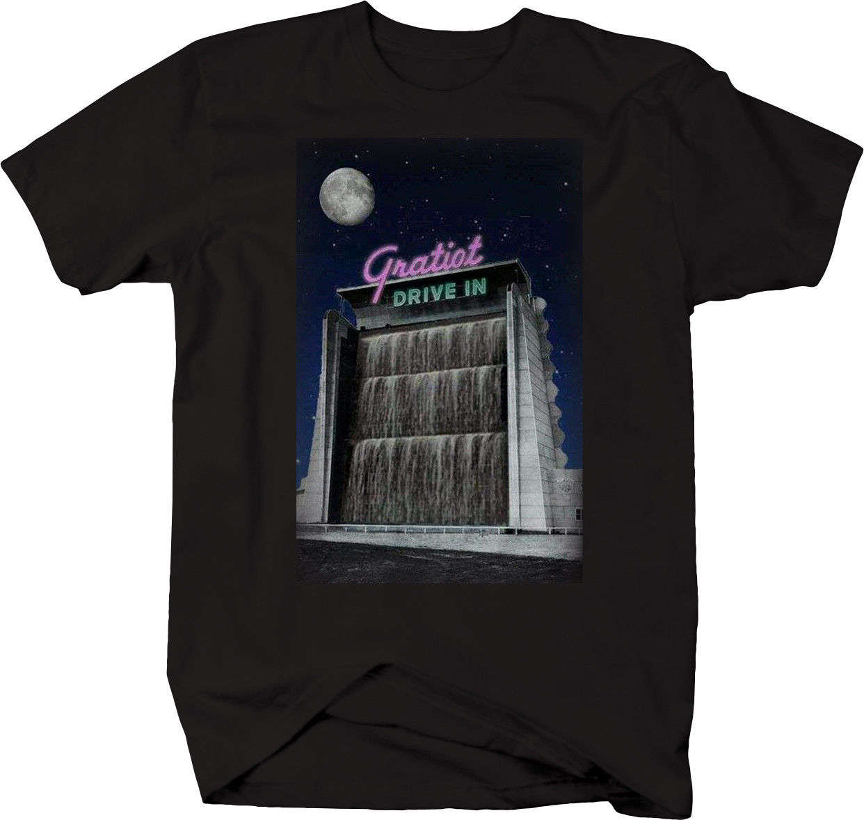 Gratiot Classic Drive In Movie Theatre Michigan Vintage Tshirt ...