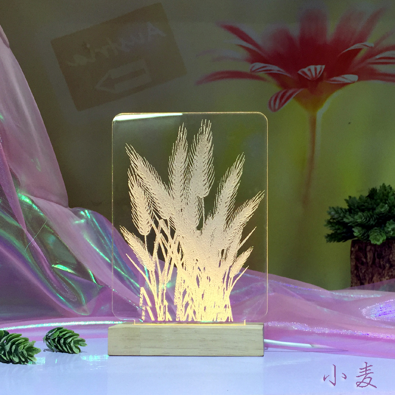 Plug In Bedside Night 3d Lamp Creative Dream Lovely Table Lamp Children's Room Decoration 3D Nightlight