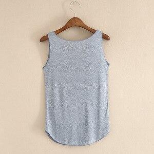 Image 5 - Gorące lato tank top fitness nowy T koszula Plus rozmiar luźny model damskiej podkoszulki bawełna O neck topy slim moda odzież damska