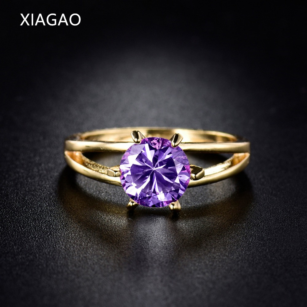 Xiagao Fashion Wedding Rings For Women Gold Color Ring