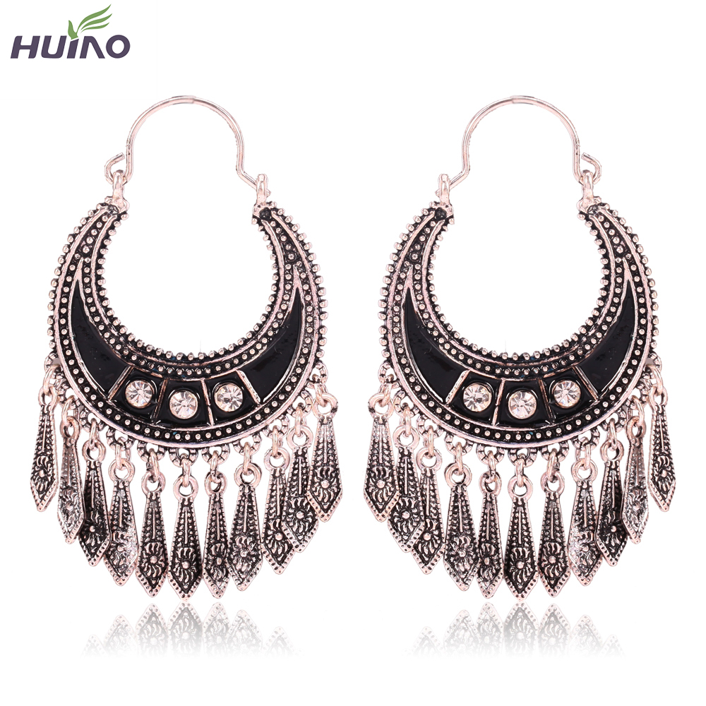 6d56b7616 Indian Jewelry Dangle Earrings Party Gift Quality Antique Silver Plated  Rhinestone Classic Drop Earrings For Women