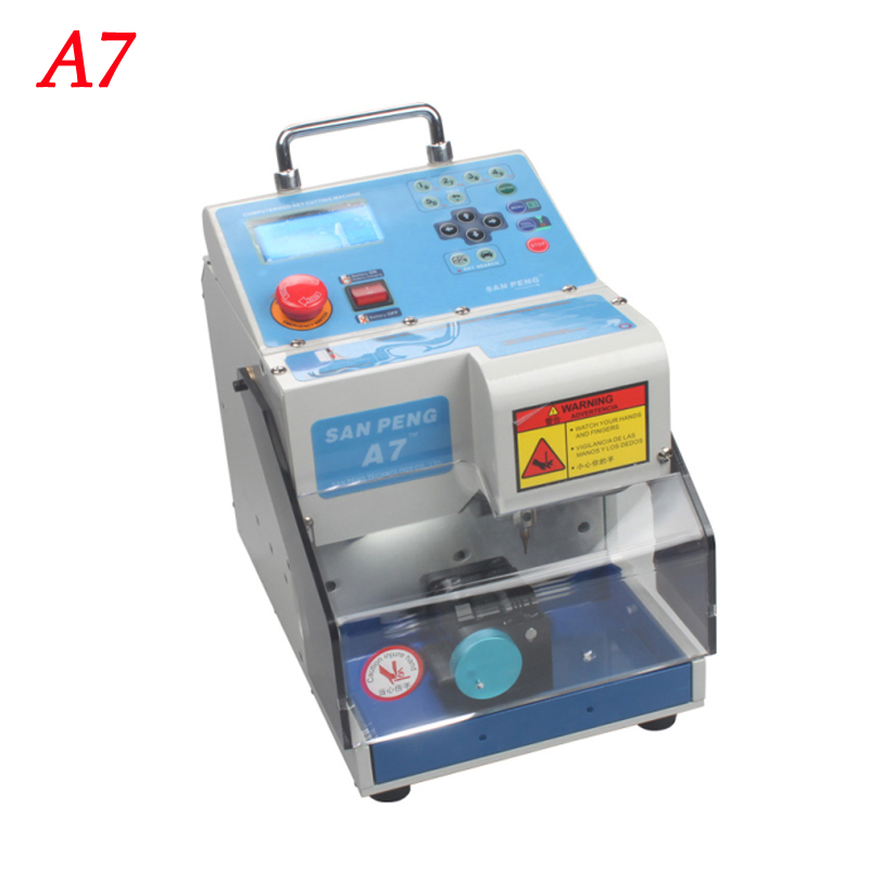 Automatic MIRACLE-A7 key cutting machine,easy carry light and Full Automatic Electronic Three-axe A7 Key Cutting Machine 1pc automatic spanish snacks automatic latin fruit machines