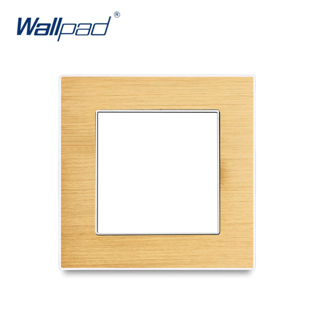Wallpad Luxury Aluminum Alloy Panel Frame Gold Hotel Panel Vertical and Horizon Frame 1 2 3 4 5 Frames Panel Only
