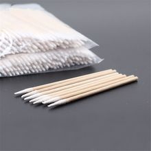 100pc 7.5cm/10cm Cotton Swab Health Makeup Cosmetics Ear Clean Cotton Swab Stick