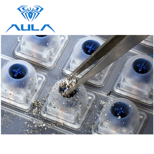 Image 3 - AULA Mechanical Gaming Keyboard RGB Backlit Wired Blue Switch 104 keys Anti ghosting Ergonomic Wrist Rest Gamer Keyboard #2030