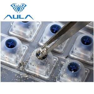 Image 3 - لوحة مفاتيح ألعاب ميكانيكية من AULA بمفتاح أزرق سلكي بإضاءة خلفية RGB مفاتيح 104 لوحة مفاتيح مريحة لمقاومة الظلال #2030