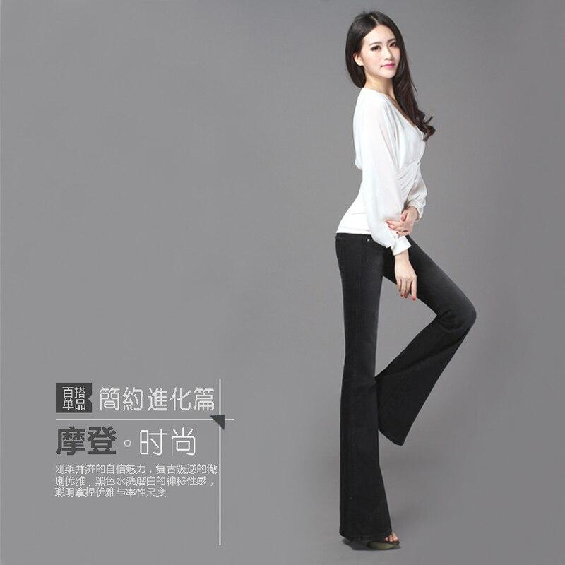 Freies Verschiffen 2019 Neue Mode Lange Hosen Für Frauen Boot Cut Schwarz Vintage Hosen Jeans Hosen Niedrige Taille Flare Hosen 25 32 größe-in Jeans aus Damenbekleidung bei  Gruppe 2