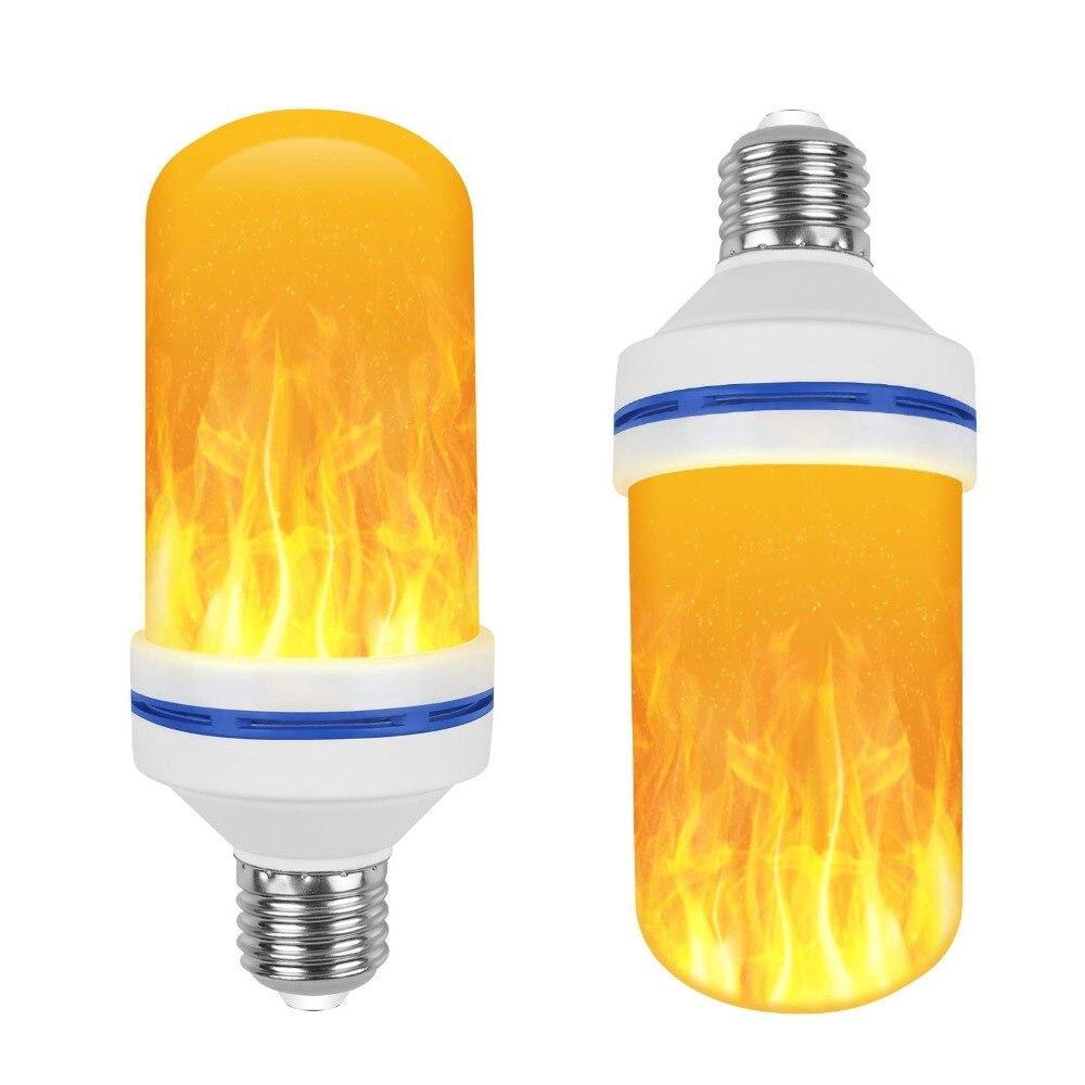 E26 Base Led Flame Effect Fire Light Bulbs Flickering