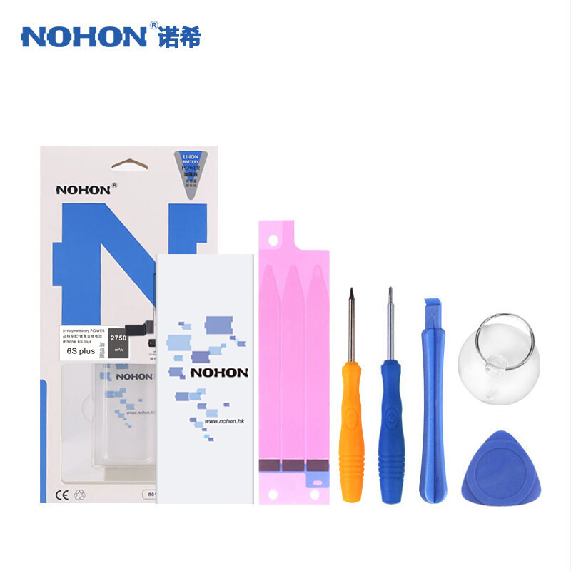 Original NOHON Battery For Apple iPhone 6S Plus 6SPlus 6 S Plus 2750mAh Lithium Polymer Real Capacity Free Tools
