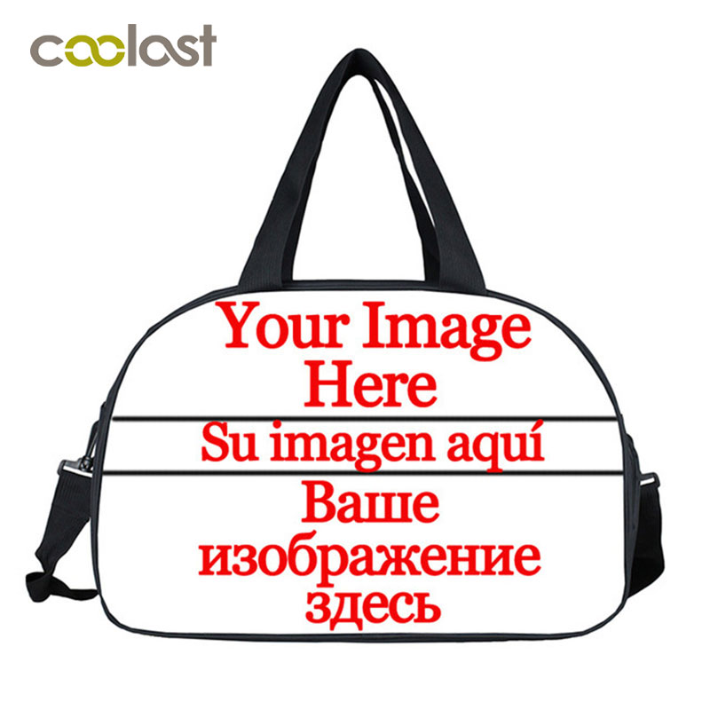 Customize Your Image Logo Carry on Luggage Travel Bag for Suit Summer Women Handbag valise Large Duffle Bags Cartoon Weekend Bag