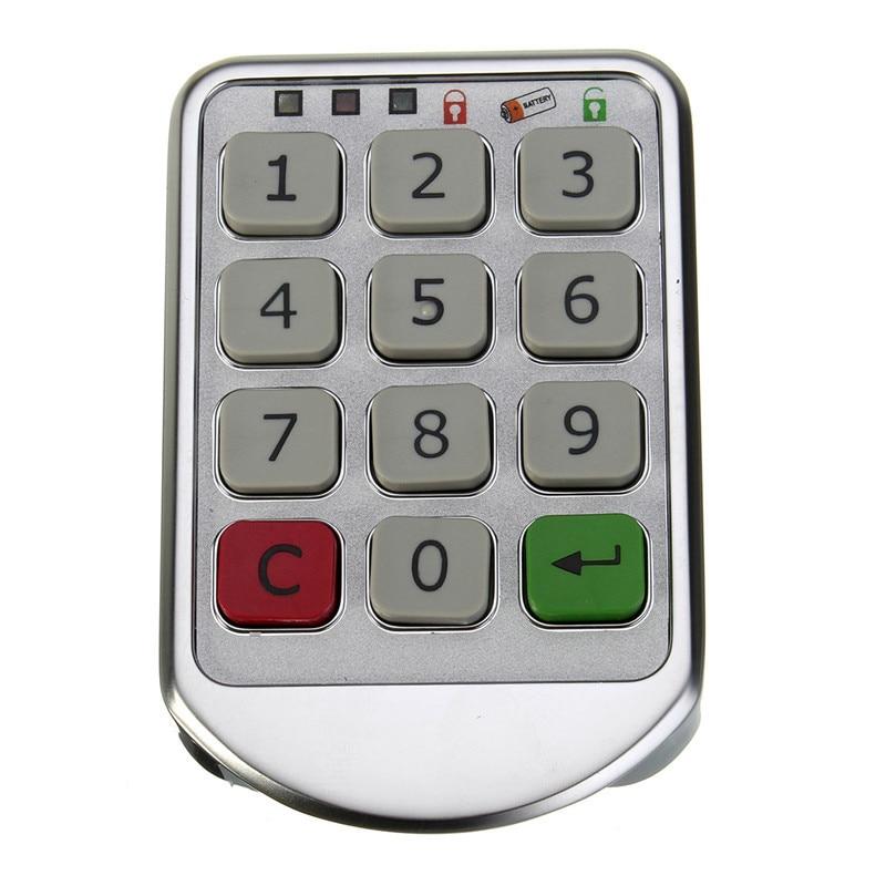 NEW Safurance Silver Metal Digital Electronic Password Keypad Number Cabinet Code Locks Intelligent Cabinet Lock Home Security