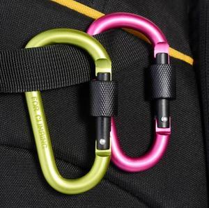 Image 5 - 5 sztuk karabinek wspinaczka 8cm typ zapięcia D Quickdraw karabinek sprzęt biwakowy aluminiowy plecak zestaw na zewnątrz GYH