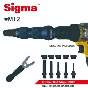 Image 2 - Sigma #M12 HEAVY DUTY Threaded Rivet Nut Drill Adapter Cordless or Electric power tool accessory alternative air rivet nut gun