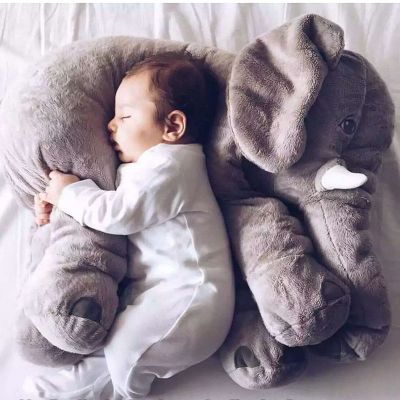Fashion Baby Animal Elephant Style Doll Stuffed Elephant Plush Dolls Pillow Kids Toy Children Room Bed Decoration Toys newborn baby animal white tiger stuffed plush kawaii pillow plush baby soft toy kids toys for children s room decoration doll