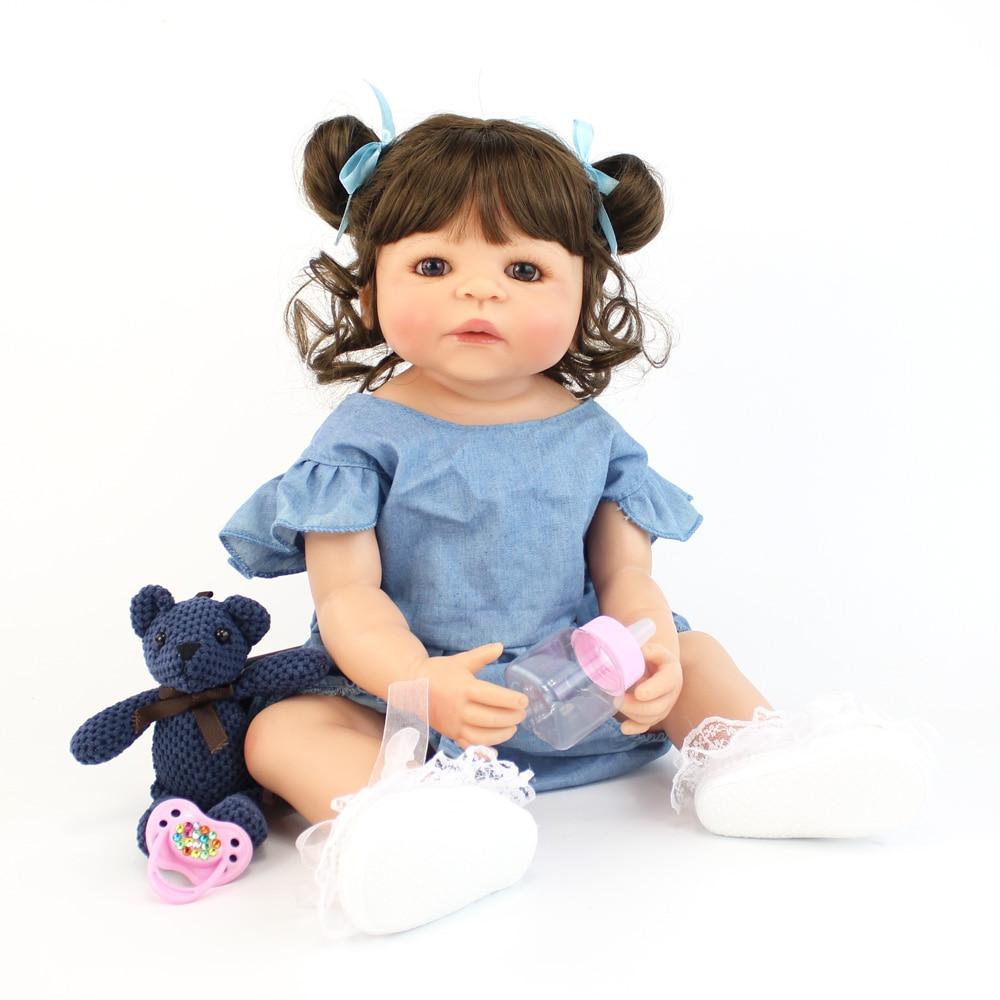 55cm silicone cheio reborn boneca do bebe 01