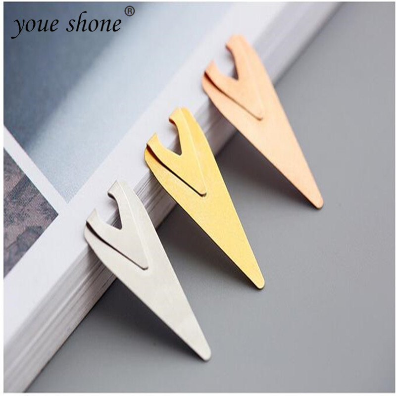 5PIECE Metal Indicator Bookmark Retro Simple Hollow Mini  Bookmarks For Book Book Clips  Stationery For Kids
