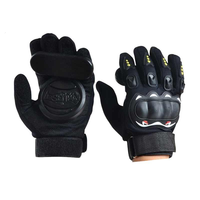 1 Pair Of Skateboard Gloves Longboard Friction Gloves With Protective Sliders Professional Down Hill Skate Board Gloves