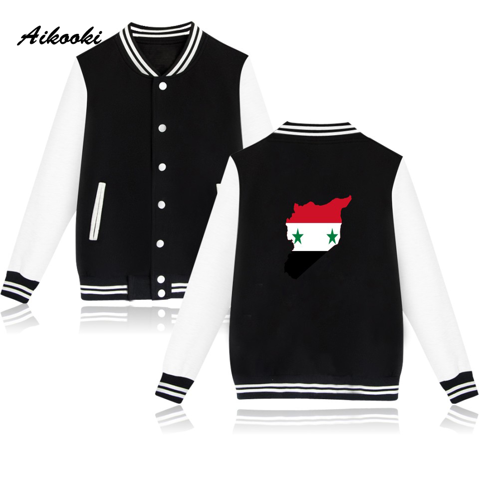 Methodical Aikooki Print Syria Flag Baseball Jacket Women Mens Hoodies And Sweatshirts Fashion Sweatshirt Male Famale Casual Jacket Clothes Can Be Repeatedly Remolded. Jackets & Coats