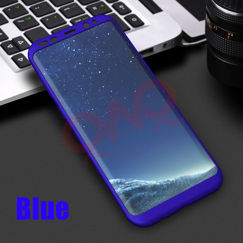 360 Full Cover Protection Cases For Samsung Galaxy S8 S8 Plus Hard PC Shockproof Samsung S7 Edge Note 8 Bag