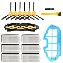 купить 16 Packs Accessories Kit For Ecovacs Deebot N79S N79 Robotic Vacuum Cleaner Filters, Side Brushes,Main Brush, Primary Filter A дешево