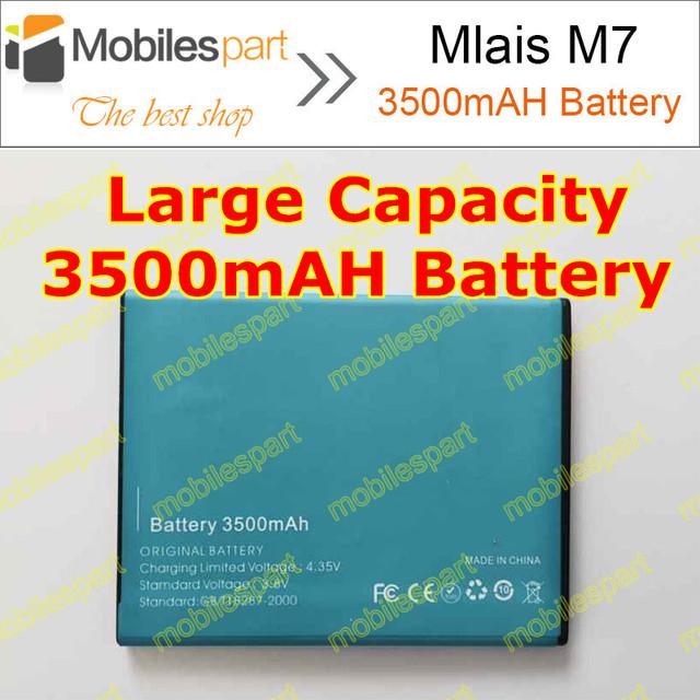 Mlais M7 Bateria 100% Original de Alta Qualidade 3500 mAh Substituição Bateria Li-ion Recarregável para Mlais M7 Além Disso Smartphone Frete Grátis