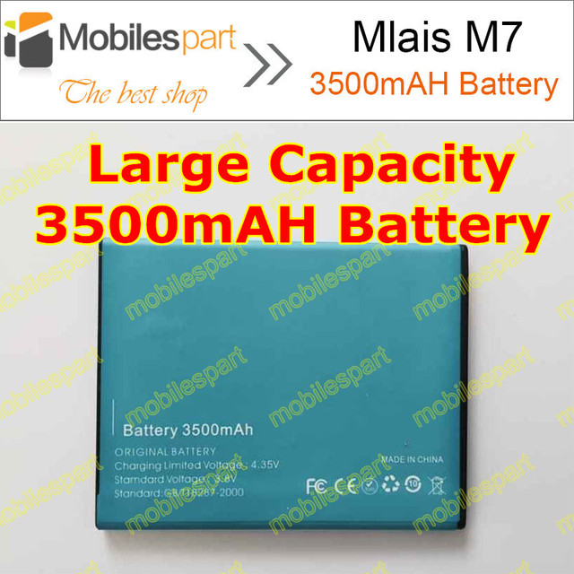Mlais M7 Battery 100% Original High Quality 3500mAh Li-ion Battery Replacement for Mlais M7 Plus Smartphone Free Shipping