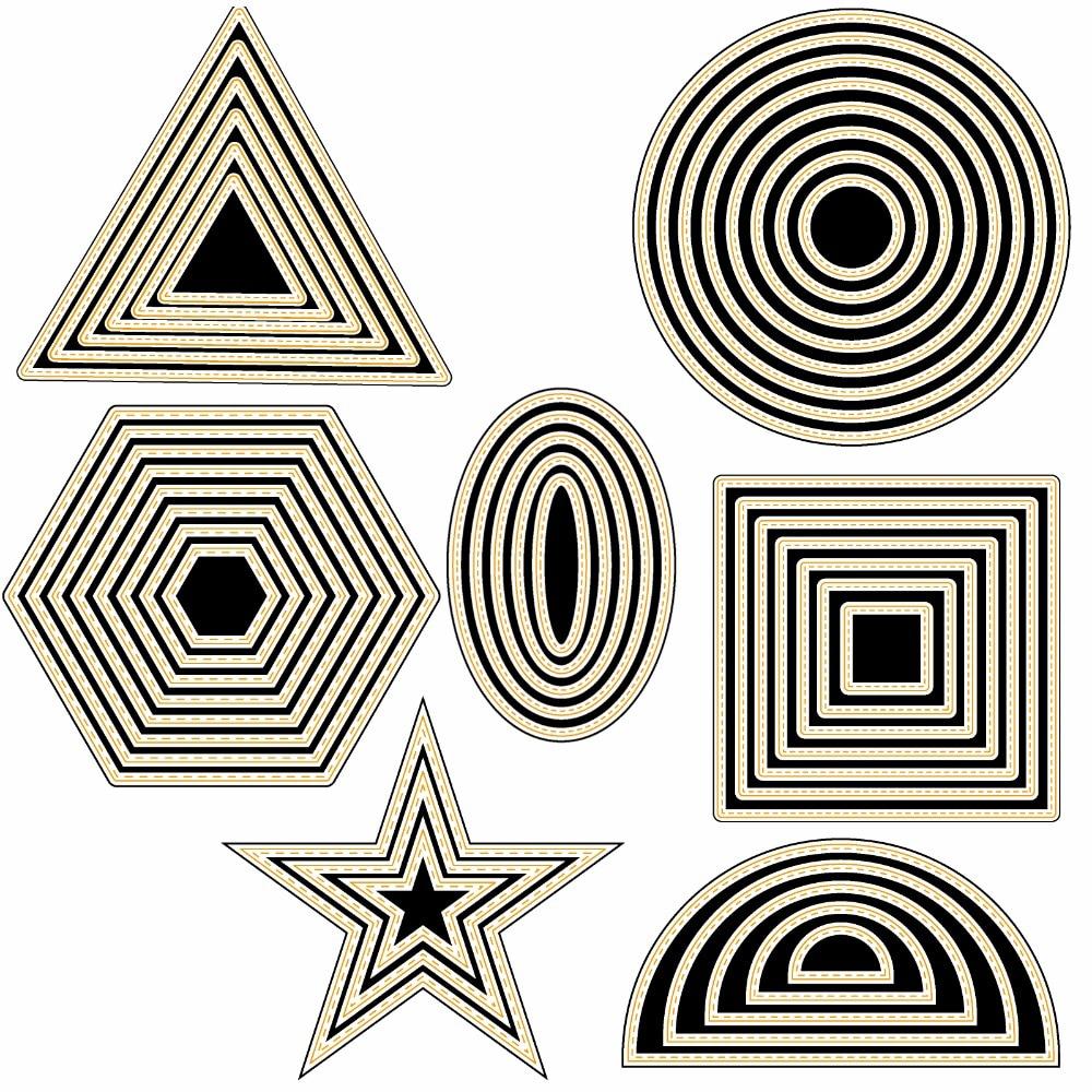 AZSG Various Shapes Pentagram  Cutting Dies for DIY Scrapbooking Decoretive Embossing Stencial Decoative Cards die cutter