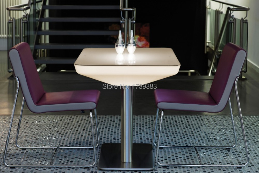 H76 Led Illuminated Furniture Dining table for 4 people ...