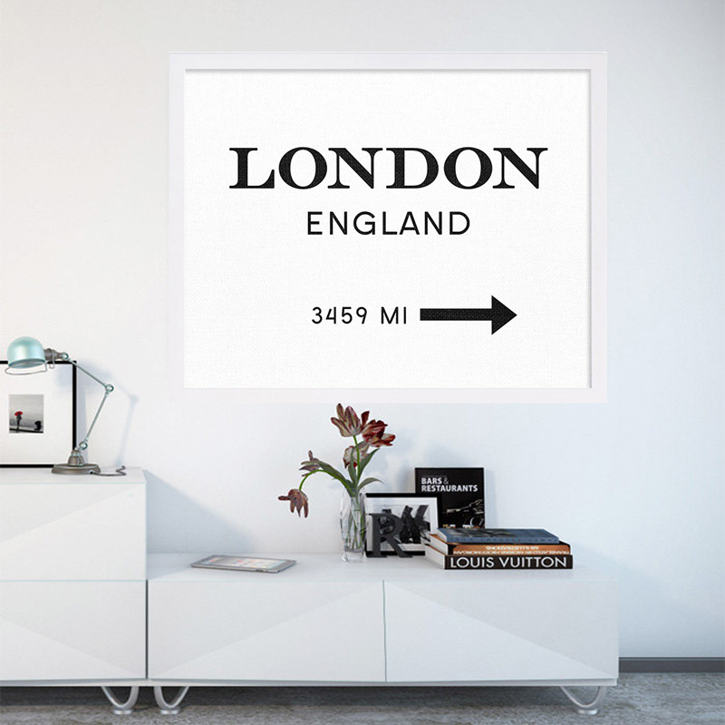 modern london england print art interior design poster canvas art painting wall pictures for living room - Interior Wall Painting Designs