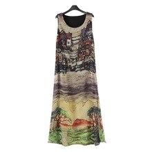 Новые модные женские туфли шелковое платье без рукавов шифоновое длинное летнее платье Пляжное платье Популярные Платья для женщин 2017