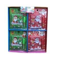 1 Набор креативный мультяшный Рождественский блокнот Санта-Клаус с шариковой ручкой мини Карманный Блокнот Канцелярские Товары для детей Подарки случайный цвет