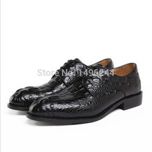 british style real top cowhide crocodile leather qshoes shoes mens brand business dress luxury men fashion shoe y583-007