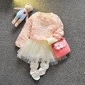 Новый Девочка Детской Одежды Кружева ИЗ ДВУХ ЧАСТЕЙ Dress Девочка Экипировка Девочка Одежда 6GST040