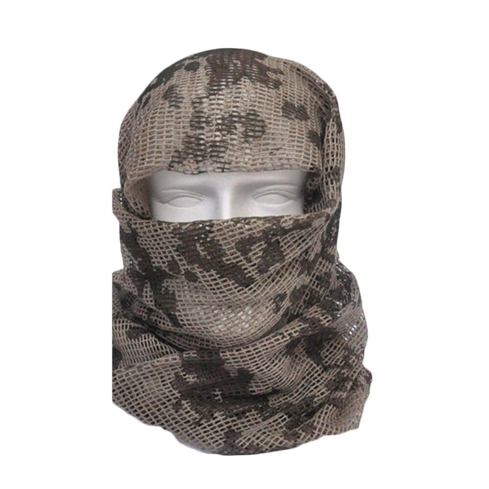 Vehemo хлопок оливковое маска для защиты лица полевое, для выживания шарфы для женщин тактический шарф сетчатый ветер - Цвет: ACU Camo